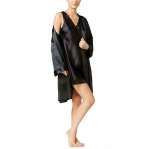 NWT Thalia Sodi Satin Short Wrap Robe XXL Black
